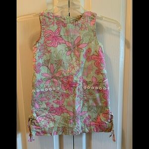 Lilly Pulitzer floral 100% cotton size 4 Dress